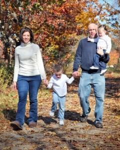Family Taking Stroll