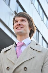 Happy Man in Suit