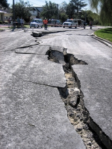 Earthquake-Damaged Street