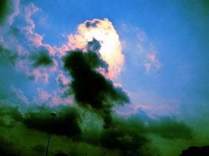Sun through Dark Clouds