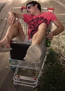 Drunk in Cart